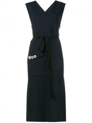 Платье с объемным карманом Ellery. Цвет: синий