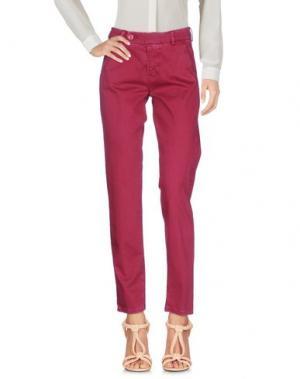 Повседневные брюки J-CUBE. Цвет: пурпурный