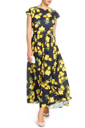 Платье MoNaMod. Цвет: синий