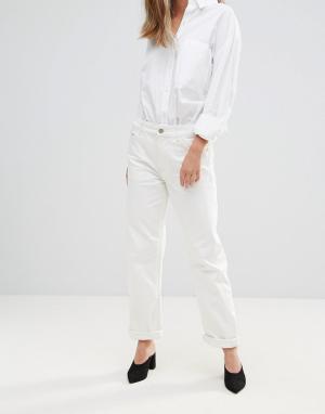 BETHNALS Широкие укороченные джинсы Charlie. Цвет: кремовый