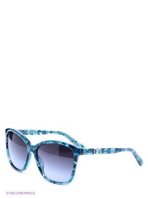 Очки солнцезащитные DOLCE & GABBANA. Цвет: темно-серый, морская волна