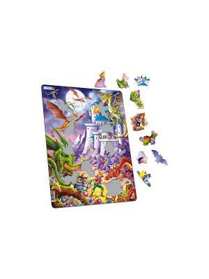 Пазл Драконы LARSEN AS. Цвет: фиолетовый, белый, голубой, желтый, зеленый, оранжевый, синий