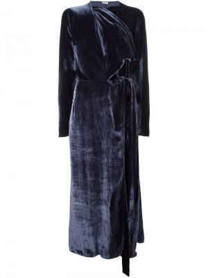 Длинное платье Ali Attico. Цвет: синий
