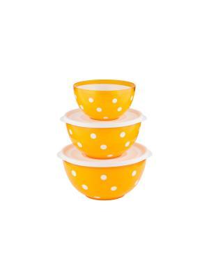 Набор салатников двухцветных Marusya (оранжевый) Berossi. Цвет: оранжевый