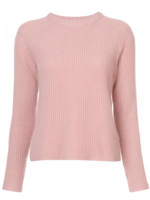 Джемпер  в рубчик Jenni Kayne. Цвет: розовый и фиолетовый