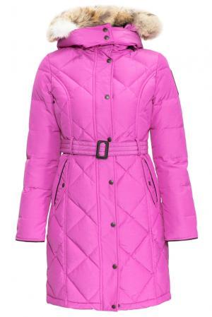 Пуховик с поясом и капюшоном 152308 Arctic Bay. Цвет: розовый