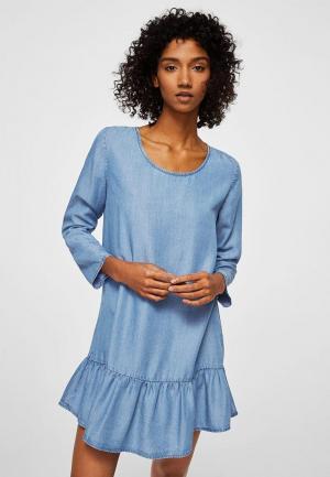 Платье джинсовое Mango. Цвет: голубой