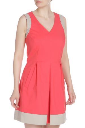 Платье WHO*S WHO. Цвет: ярко-розовый, бежевый