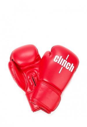 Перчатки боксерские Clinch. Цвет: красный