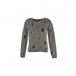 Пуловер с рисунком в горошек Obligeance RENE DERHY. Цвет: серый