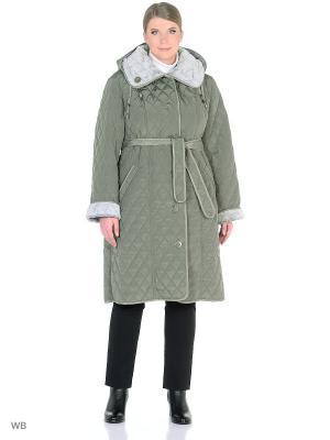 Стеганое пальто Batell. Цвет: оливковый