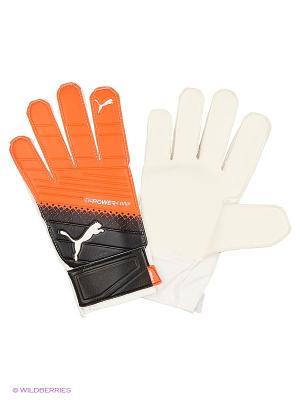 Перчатки вратарские evoPOWER Grip 4.3 Puma. Цвет: красный, черный