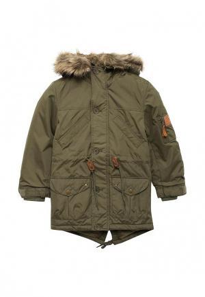 Куртка утепленная Modis. Цвет: зеленый