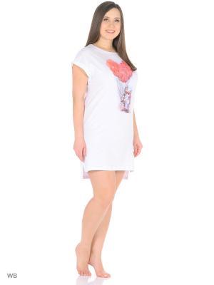 Ночная сорочка Modis. Цвет: молочный, розовый