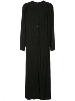 Длинное платье-рубашка Rodebjer. Цвет: чёрный