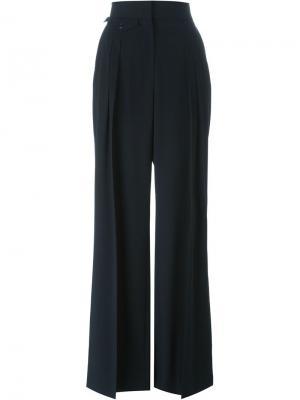 Плиссированные брюки Lemaire. Цвет: синий