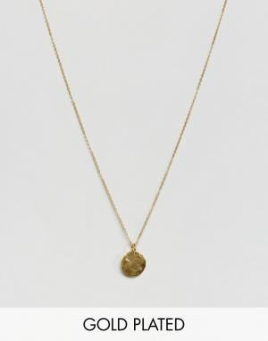 Ottoman Hands Ожерелье с круглой подвеской. Цвет: золотой