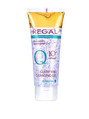 Очищающий гель для умывания нормального и смешанного типа кожи REGAL Q10+M, 100мл., (Болгария). Цвет: зеленый