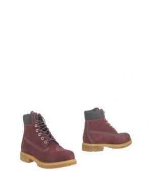Полусапоги и высокие ботинки TIMBERLAND. Цвет: баклажанный