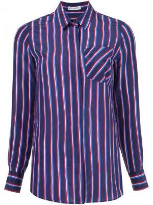 Рубашка в полоску Chika Altuzarra. Цвет: синий