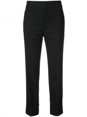 Укороченные строгие брюки Vince. Цвет: чёрный