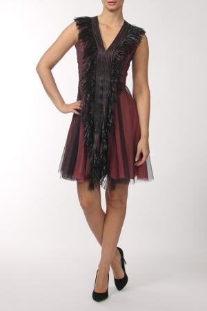 Платье Marios Schwab. Цвет: бордовый, черный