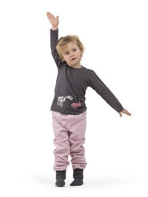 Брюки Супер-штоны Sardina Baby. Цвет: бледно-розовый, серый