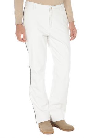 Прямые брюки с застежкой на молнию Luhta. Цвет: 010 белый