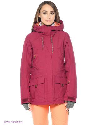 Куртка ROXY. Цвет: красный