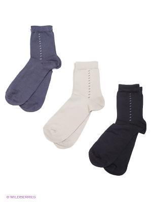 Носки детские, 3 пары БРЕСТСКИЕ. Цвет: черный, темно-серый, молочный