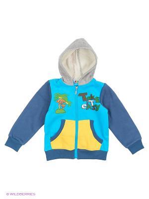 Куртка трикотажная с начёсом Kidly. Цвет: голубой, желтый, серый, синий