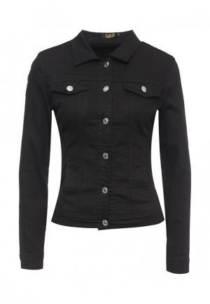 Куртка джинсовая G&G. Цвет: черный