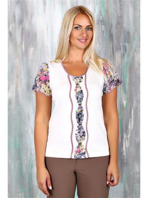Блузки AVILA. Цвет: фиолетовый, белый