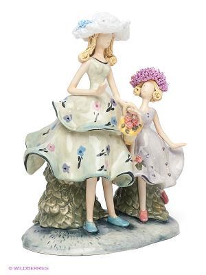 Фигурка Мама с дочкой Pavone. Цвет: светло-зеленый
