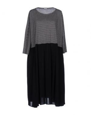 Платье до колена A.B APUNTOB. Цвет: темно-синий