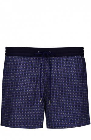 Плавки-шорты с накладным карманом Brioni. Цвет: синий
