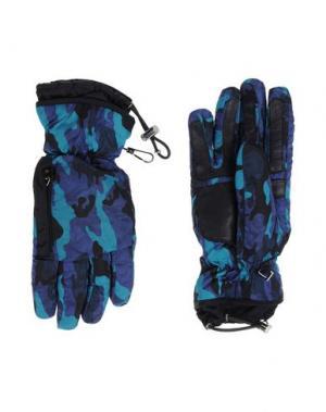Перчатки PRADA. Цвет: темно-фиолетовый