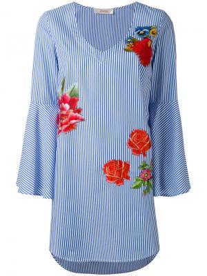 Блузка с цветочным принтом Jucca. Цвет: многоцветный