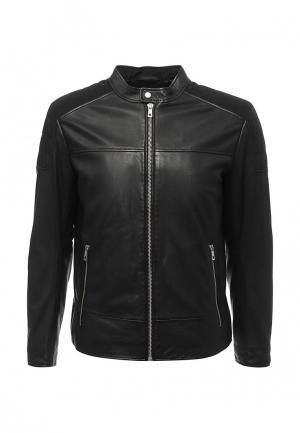 Куртка кожаная Lagerfeld. Цвет: черный