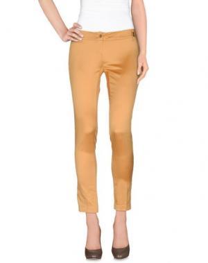 Повседневные брюки DANIELE ALESSANDRINI. Цвет: охра