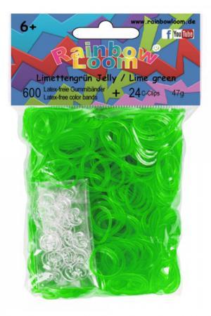 Резинки гелевые RAINBOW LOOM. Цвет: зеленый