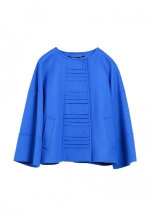 Полупальто Heresis. Цвет: голубой