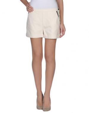 Повседневные шорты GIRL BY BAND OF OUTSIDERS. Цвет: слоновая кость