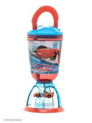 Стакан-качели с соломинкой Тачки Stor. Цвет: голубой, красный
