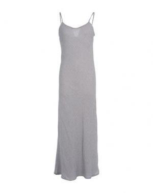 Длинное платье MANILA GRACE. Цвет: темно-синий