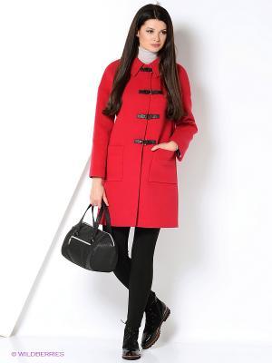 Пальто FORTUNA. Цвет: малиновый