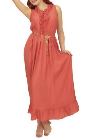 Платье Lamiavita. Цвет: лососевый