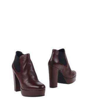 Полусапоги и высокие ботинки BRUNO PREMI. Цвет: красно-коричневый