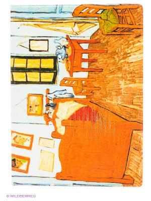 Обложка для паспорта Ван Гог - Спальня в Арле Mitya Veselkov. Цвет: оранжевый