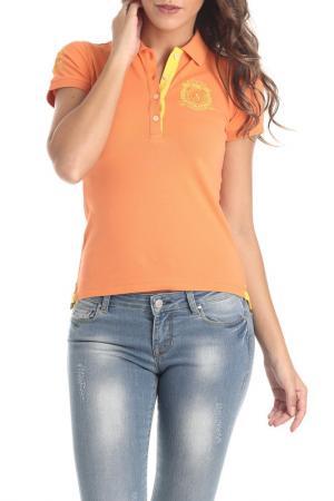 Рубашка-поло Galvanni. Цвет: оранжевый